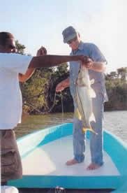 Fishing at Monkey River